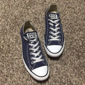 Blue Converse All Star Low Tops